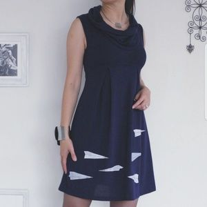 Paper Airplane Cowl Neck Dress